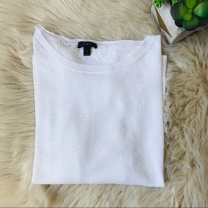 J Crew / White Linen Sweater